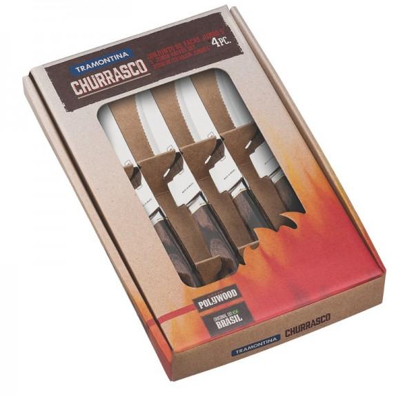 Steakmesser-Set, geschmiedet 4-teilig