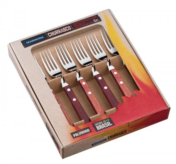 JUMBO Steakgabel-Set, 6-teilig