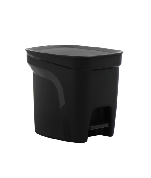 COMPACT Tretmülleimer, 7 Liter - schwarz