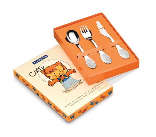 CATTY Kinderbesteck Set, 3-teilig